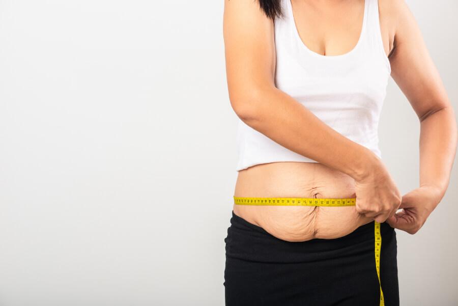 Mesure du ventre après une grossesse